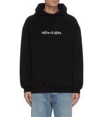 logo symbol print hoodie