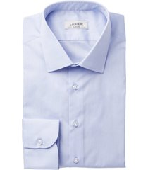 camicia da uomo su misura, ibieffe, azzurra zephyr cotone, primavera estate | lanieri