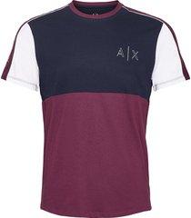 armani exchange sweatshirt t-shirts short-sleeved multi/mönstrad armani exchange