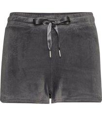 cecilia velour shorts shorts flowy shorts/casual shorts grå gina tricot