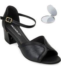 sandália piccadilly e espelho pd20-5420 feminina - feminino