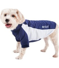 pet life active 'barko pawlo' relax stretch performance dog polo t-shirt