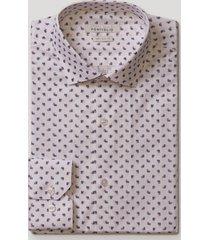 camisa formal estampada blanco perry ellis