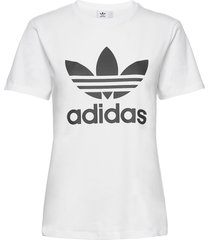 adicolor classics trefoil t-shirt w t-shirts & tops short-sleeved vit adidas originals
