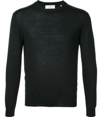 cerruti 1881 long-sleeve fitted sweater - blue