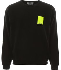 msgm pullover with fluo label