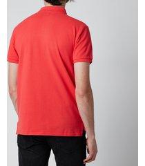 polo ralph lauren men's mesh knit slim fit polo shirt - racing red - xl