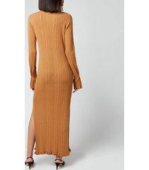 holzweiler women's hadeland knit dress - light brown - l