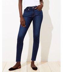 loft curvy slim pocket skinny jeans in vivid dark indigo wash