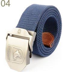 cinturón de hombres, cinturón tejido de lona salvaje-azul