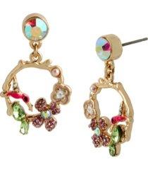 betsey johnson hummingbird gypsy hoop earrings