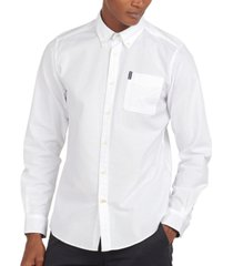 barbour men's brooklime tailored-fit stretch oxford shirt