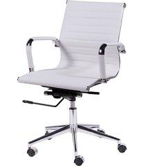 cadeira de escritório esteirinha baixa - branca