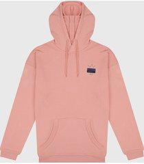 buzo rosa adidas originals r.y.v con trifolio abstracto