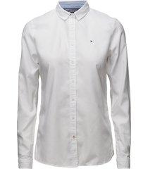 heritage regular fit overhemd met lange mouwen wit tommy hilfiger