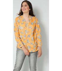 blouse janet & joyce geel::wit