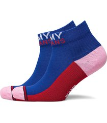 th unisex tommy jeans quarter 2p lingerie socks regular socks blå tommy hilfiger