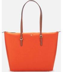 lauren ralph lauren women's chadwick small tote bag - sailing orange