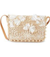 aranaz women's calypso woven shoulder bag - natural
