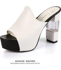 zapatillas para mujer de boca de pez sandalias de mujer con tacón