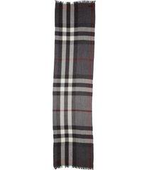 women's burberry tonal lightweight check cashmere wool scarf