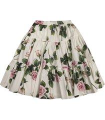 dolce & gabbana flared floral skirt