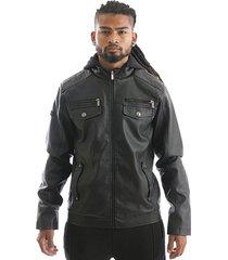 chaqueta pu black negro gangster