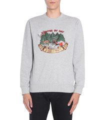 lanvin sweatshirt with fighter embroidery