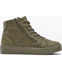 sneaker alte con plateau (verde) - bpc selection