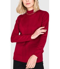 sweater ash liso burdeo - calce ajustado