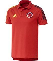 camiseta polo para hombre oficial selección colombia roja