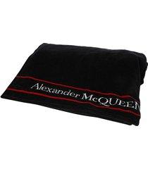 alexander mcqueen embroidered logo towel