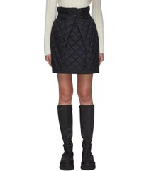 quilted ripstop cinched skirt