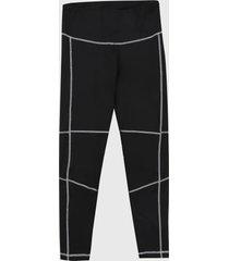 leggings negro-blanco reebok ready detail