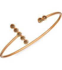 chocolatier® 14k strawberry gold® & chocolate diamond® cuff bracelet