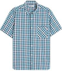 camisa hombre minicuadros con bolsillo