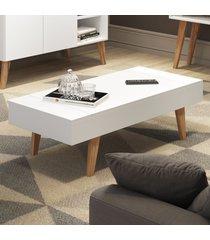 mesa de centro basculante leaves 1002 branco - bentec