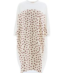 marni polka dot jersey dress