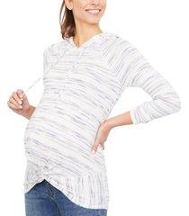 motherhood maternity twist-front hoodie