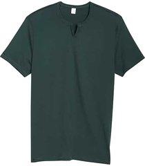 alternative apparel men's modern fit notched crew neck t-shirt deep green - size: small