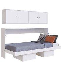 cama articulável horizontal solteiro c/ aéreos latino branco artinmóveis