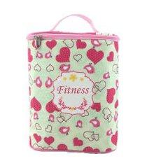bolsa térmica bbbag para nutrição fitness rosa