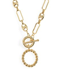 women's baublebar twist initial necklace