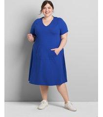 lane bryant women's livi soft hooded dress 38/40 blue