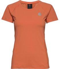 women's running tee t-shirts & tops short-sleeved orange newline