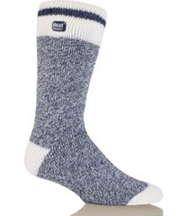 heat holders men's lite cream block twist thermal socks