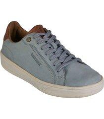 zapato cuero brahma mujer azul ko2865-azu
