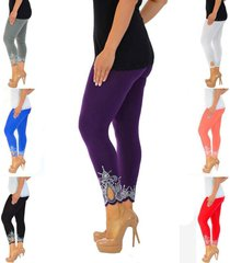 new women's plus size nouvelle laser printing full length leggings
