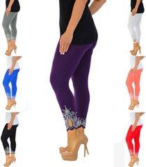 new women's plus size nouvelle laser printing full length leggings