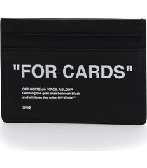 off-white card holder